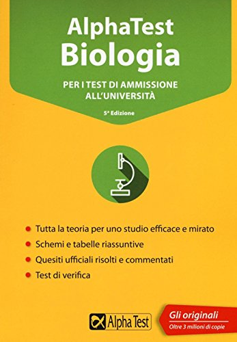 Alpha Test biologia. Per i test di ammissione all'università