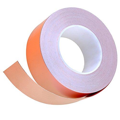Preisvergleich Produktbild Roll Abschirmband Kupferfolie Kupferband EMI Beschützung Selbsklebend (5cm*50m)