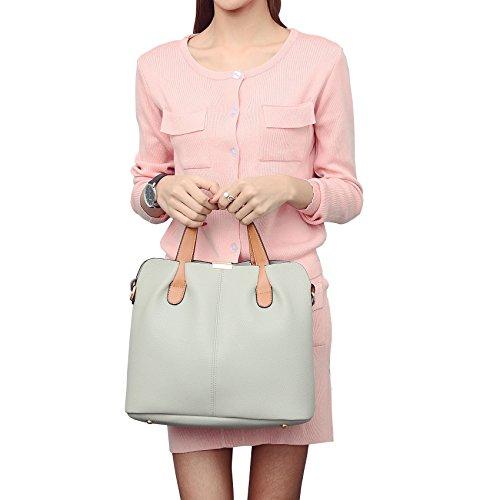 DISSA ES871 neuer Stil PU Leder Deman 2018 Mode Schultertaschen handtaschen Henkeltaschen set,320×145×275(mm) Grau