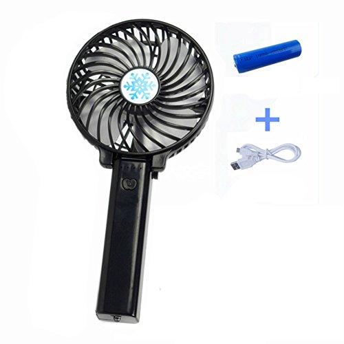 Mini ventilador de mano,Surenhap escritorio portátil personal plegable Ventilador de escritorio de la mesa con USB ventilador eléctrico con pilas recargable para oficina de viaje al aire libre del hogar (3 velocidades, negro)