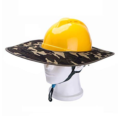 JU FU Helm Schutzhelm - Sommerhelm BAU Sonnenschutz Sonnenblende Baustelle Outdoor Arbeitsschutz UV-Schutz atmungsaktiv Männer und Frauen @@ (Color : B)