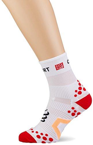 Compressport SHT2BR - Calcetines unisex, color blanco/rojo, talla 35-38