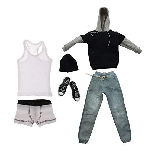 FLAMEER 1/6 Scale Outfits Herrenbekleidung Kleidung Für 12 Zoll Action Figure Zubehör