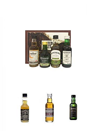 Peated Malts of Distinction 4 x 5 cl Miniaturen + Jack Daniels...