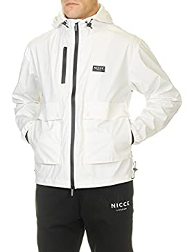 Nicce London Hombre Breve logotipo de Mac Chaqueta, Blanco