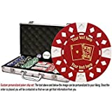 ChipsAndGames Custom Poker Chip Set: Ace King Image & Your Custom Text On Both Sides Of The Chips. 300 11. 5 Gram Chip W/case & More.