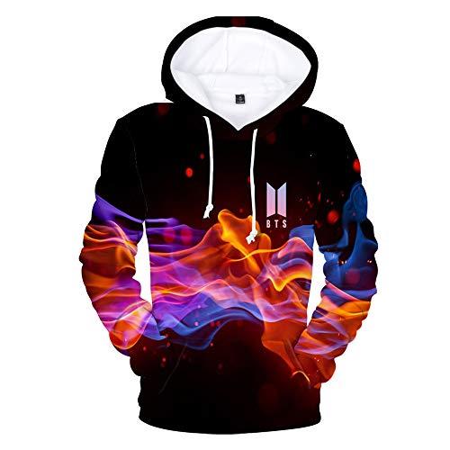 BTS Hoodies Männer Frauen 3D Print Sweatshirts Unisex Pullover Mit Tasche Jacke E XXXXL
