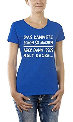 Touchlines Damen T-Shirt Das Kannste So Machen Blau (Royal 09), Large