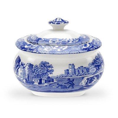 Blue Italian 9 oz. Sugar Bowl with Lid by Spode Blue Sugar Bowl