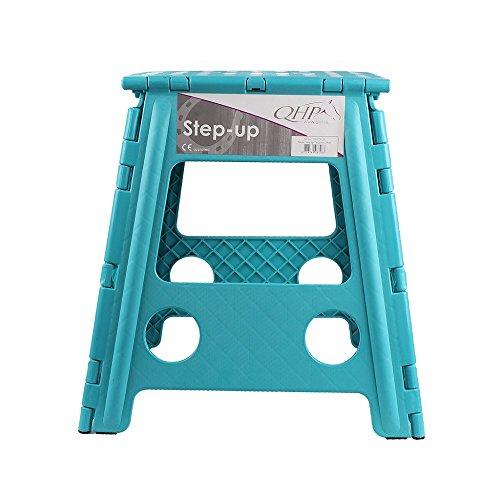 Klapphocker Step-up, faltbarer Hocker für Stall, Haus, Camping versch. Farben, Farbe:tuerkis