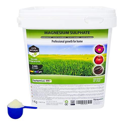 Nortembio agro solfato di magnesio naturale 5 kg. uso universale. migliora la crescita di colture, giardini, piante da appartamento ed esterno.
