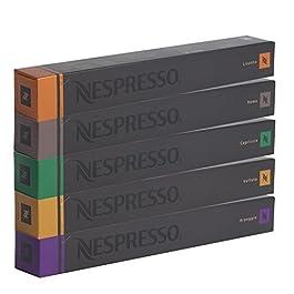 Nespresso Assortimento 50 Capsule – Volluto, Arpeggio, Capriccio, Roma, Livanto