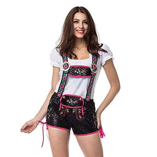 LVLUOYE Stage-Performance-Kleidung, deutsches Oktoberfest Bekleidungskostüm, Bar-Bier-Schwester Mastdecken,S