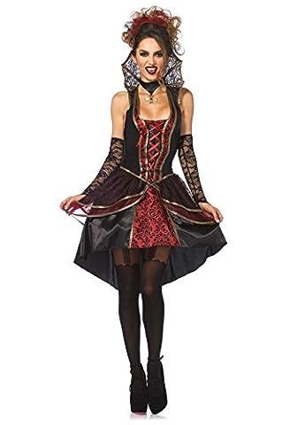 Leg Avenue 85435 - Vampir-Königin Kostüm, Größe Small (EUR 36) (Draculas Frau Kostüm)