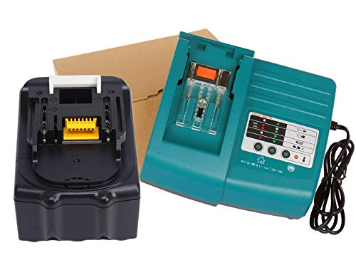 YASI MFG per Makita Caricabatterie & Batteria per Makita BL1830 BL1840 BL1850 BL1850B DC18RA DC18RC DC18RD [Caricabatterie 7.2 V-18 V agli ioni di litio con Makita BL1830 18 V 3,0 AH Ioni di Litio]