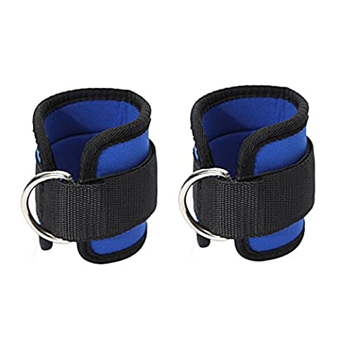 iTECHOR 2Pcs Ankle Cuff Straps Durable Soft Padded Training Ankle Cuff Fitness Ankle Strap for Body