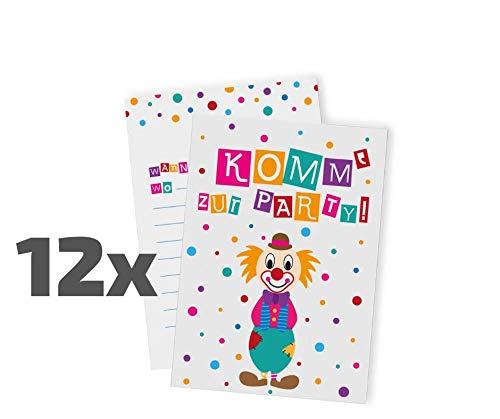 arten zum Kindergeburtstag / Karneval / Fasching / Party / Geburtstagseinladungen / Einladungen / Geburtstag / Kinder / Jungen / Mädchen / Karten / Sets ()