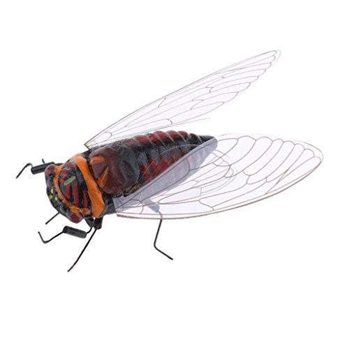 FLAMEER Réaliste Insectes Pot Animal Cintre Réfrigérateur Aimant Jardin Décor - Cigale