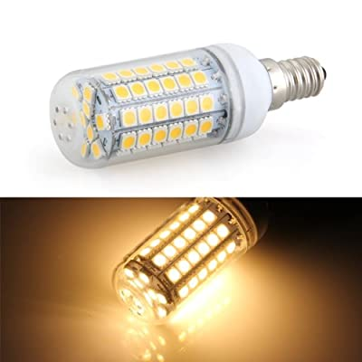 E14 69 SMD 5050 LED Warmweiß - 8W Strahler - plus Blende - Mais Lampe Leuchtmittel - AC220V - E14 Sockel Beleuchtung - 360º Abstrahlwinkel - 500LM von fitTek - Lampenhans.de