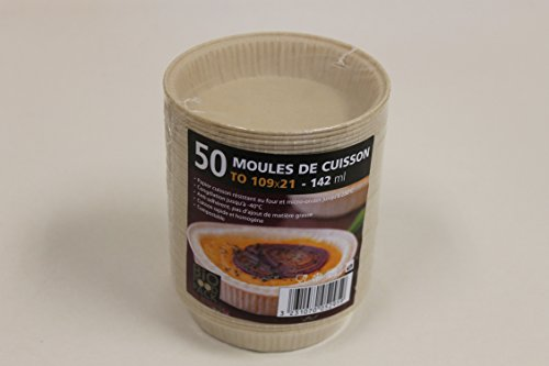 Paper baking mould 109 mm 142 ml Organic Food Pack – Pack of 50 Cups