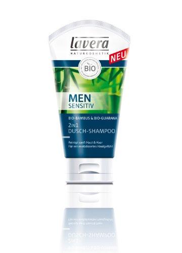 Soap-schaumbad Shampoo (lavera Men sensitiv 2in1 Dusch-Shampoo, Duschgel für Männer 2er Pack (2 x 150 ml))