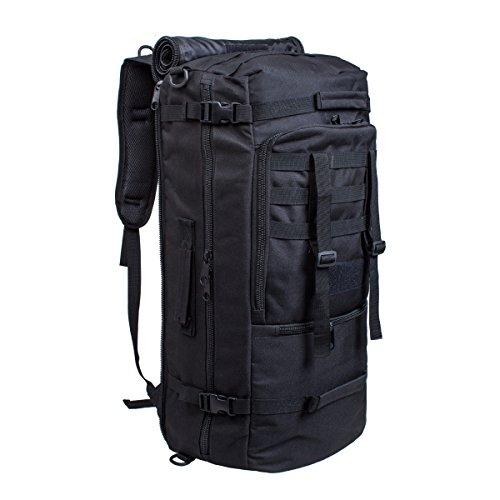 60L Multifunktionswasserdicht Militärische Taktische Molle Angriffs Rucksack Sport Rucksack Reisetasche Taschen Wochenend-Reisetasche Duffle Handgepäck (Reisetasche Rucksack)