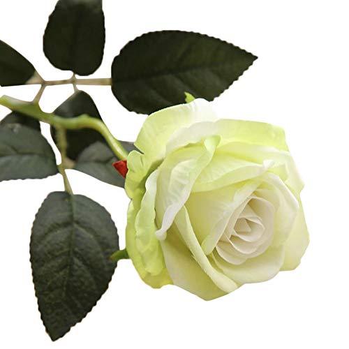 YEARNLY Rosen Real Touch Schöne Echtes Moisturizing Curling Knospe Latex künstliche Rose Kunstblumen Blume Dekoration Blumenstrauß Blumenarrangement