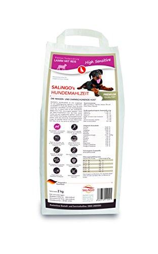 SALiNGO High Sensitive Hundefutter trocken, Lamm und Reis (2kg)