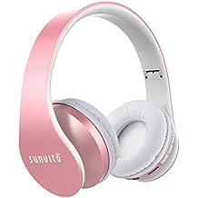 Sunvito Auriculares Bluetooth 4.0 de Diadema Plegable,4 en 1 Estéreo Bass Inalámbrico Auriculares con