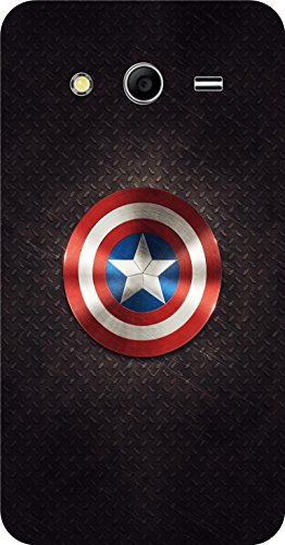 Shengshou Captain America Design Mobile Back Cover for Samsung Galaxy Core 2 G355 - Black Red