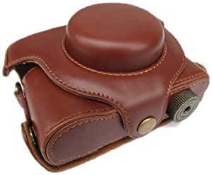 (Brown) PU Leather Camera Case for Panasonic LUMIX LX5 (536-2)