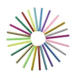 Qutaway Hot Glue Glitter Stick 120 Pcs Mini Art-artisanat Adhésif Sticky Gun Sticks 7mm * 100mm (12 couleurs)