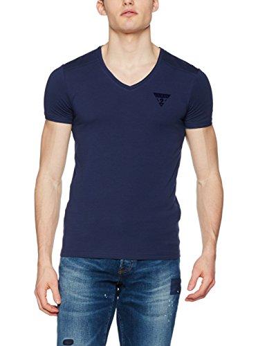 Guess T-Shirt V Neck S/S Blau