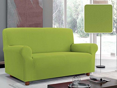 Ilgruppone copridivano made in italy 1,2,3 posti disponibile in 14 colori elastico poltrona - 1 posto verde mela