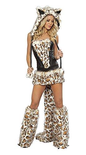 Honeystore Damen Halloween Catwoman Kostüme Rollenspiel Cosplay Spiel Uniform Allerheiligen Weihnachten Kleider (60's Kostümverleih)
