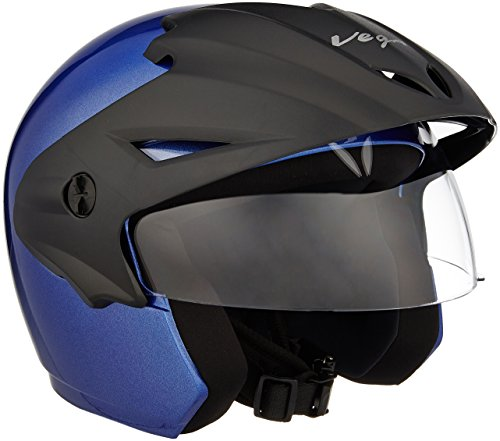 Vega Cruiser CR-W/P-MB-M Open Face Helmet (Metalic Blue, M)