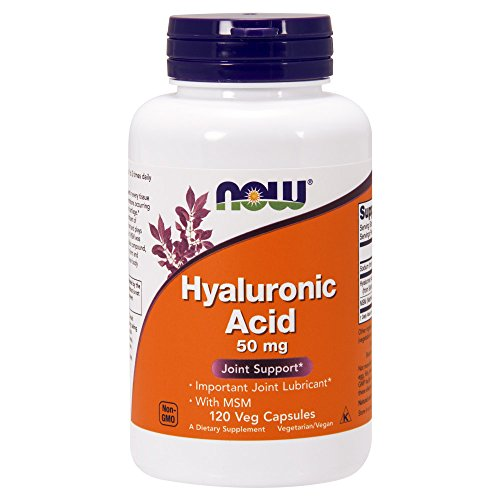 HYALURONIC ACID 50mg WITH MSM - 120 veg caps -