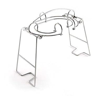 Charcoal Companion Faltbares Keulen und Flügel Grillgestell, Lässt sich einfach wegräumen, silber, 8.26 x 16.51 x 29.72 cm, CC6125