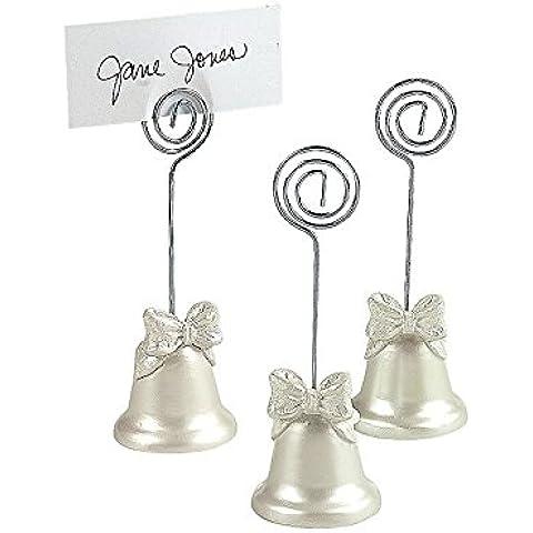 12 Wedding Bell Nome tabella / appunto nota nozze luogo titolari di carte da regalo favori - (2 Pack) - Carta Regalo Della Santa Titolare