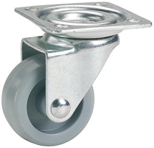 Dörner + Helmer Möbel-Lenkrolle (45 x 17 mm, Kunststoff-Rad) grau, 790140C -