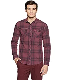 Breakbounce Men's Checkered Slim Fit Casual Shirt
