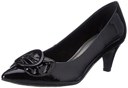 Tamaris 22453, Escarpins Femme Noir (BLACK PATENT 018)