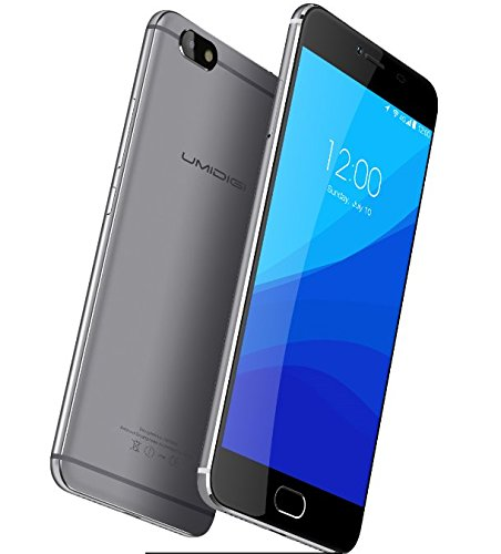 UMIDIGI C NOTE - Android 7.0 5.5 Zoll 4G Smartphone 1.5GHz Quad Core 3GB RAM 32GB Ultra-Slim 8.4mm Metall Unibody 3800mAh Batterie - Grau