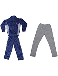 IndiWeaves Girls Combo Pack For Winter (Pack of 1 Tracksuit and 1 Wollen Legging)