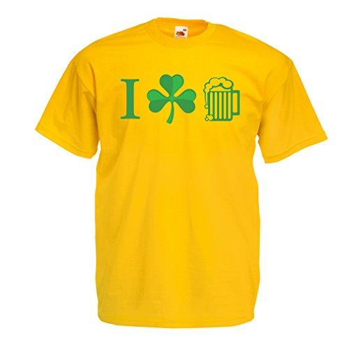 Männer T-Shirt The Symbols of St. Patrick's Day - Irish Icons (XX-Large Gelb Mehrfarben) (Fight Club Soap Kostüm)
