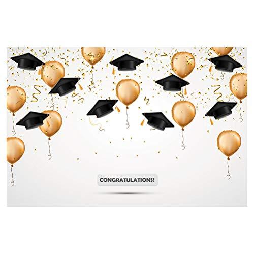 Amosfun 3D Foto Hintergrund Graduation Party Dekoration Lieferungen DIY Druck Foto Hintergrund für Fotostudio Grad Party Favors Supplies 90x150 cm