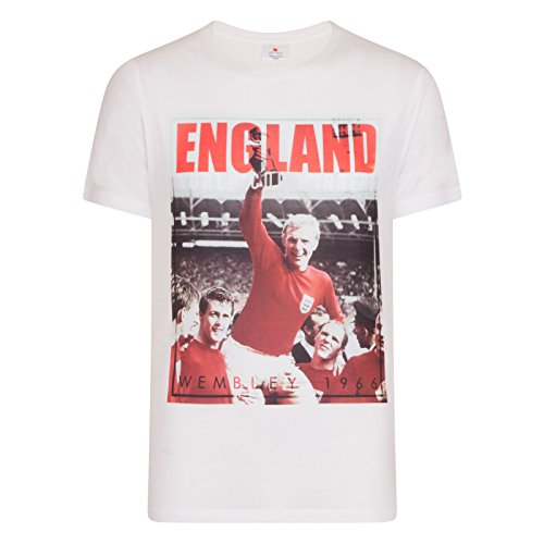 Spike Leisurewear England Football Gift Bobby Moore 1966 World Cup Winners Mens T-Shirt