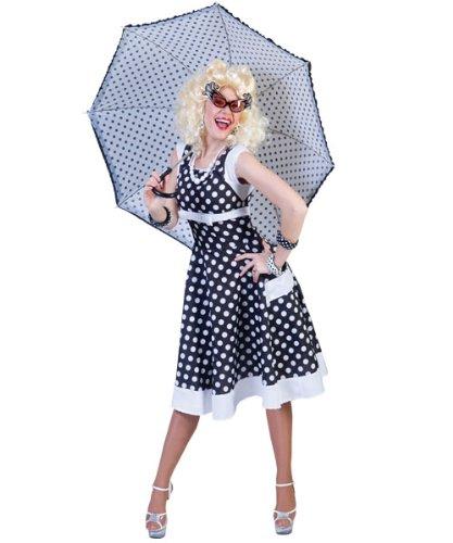 Pierro´s Kostüm 50er Jahre Kleid Patsy schwarz/weiß Größe (Schwarz Jahre 50er Kleid Kostüme)