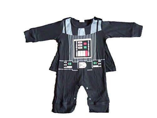 (arth Vader Star Wars Baby Jungen (0-24 Monate) Bekleidungsset schwarz schwarz / weiß 0-6 Monate)