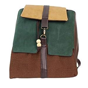 Rucksack Damen 33cm wasserdicht 'braun-grün'| Tasche | HANDMADE | Geschenkideen für Frauen
